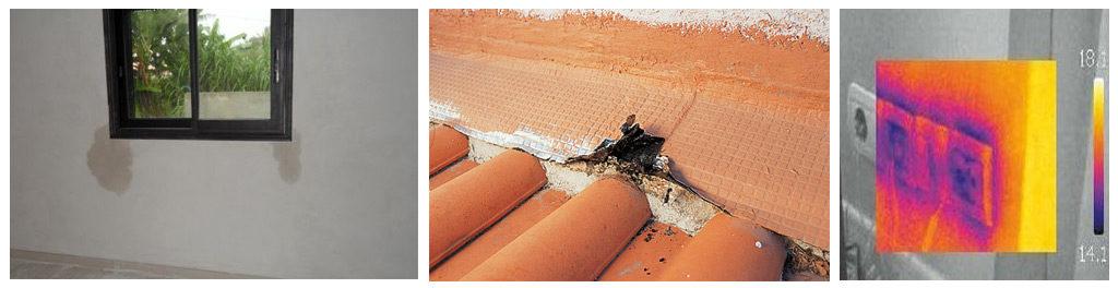 pathologie du bâtiment, etanchéité à l'air et à l'eau du bâtiment