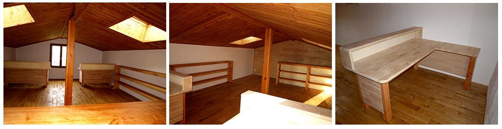 Mobilier de bureau en bois massif