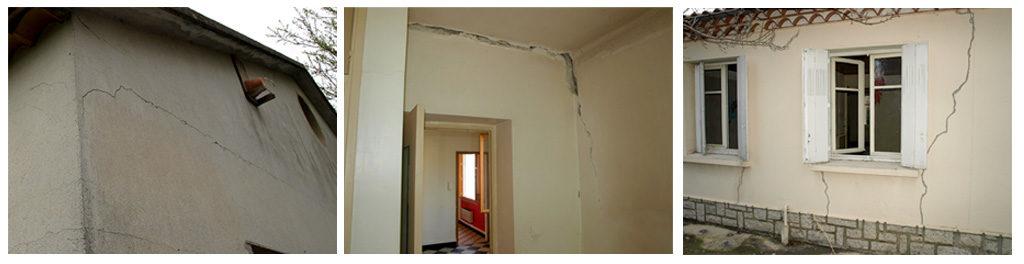 pathologie du bâtiment, fissuration