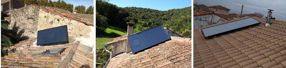 capteur solaire air sur toiture avec orientation optimis e g nie bioclimatique. Black Bedroom Furniture Sets. Home Design Ideas
