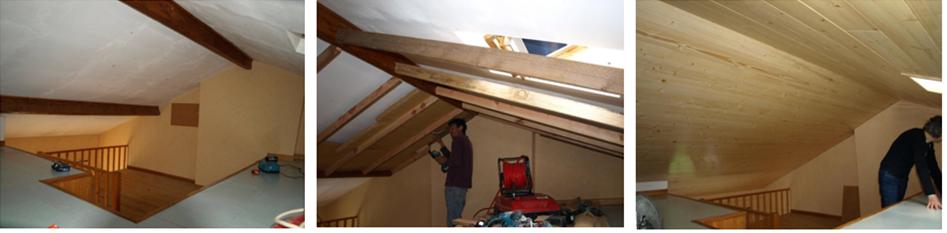 isolation de plafond en fibres de bois g nie bioclimatique. Black Bedroom Furniture Sets. Home Design Ideas